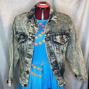 Vintage acid wash Jean Jacket sz M